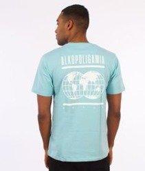 Alkopoligamia-Glob T-Shirt Turkusowy