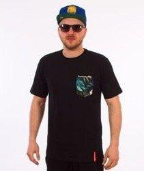 Alkopoligamia-Loveyourlife Botanix Pocket T-Shirt Czarny