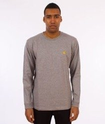 Carhartt-Chase Longsleeve Grey Heather/Gold