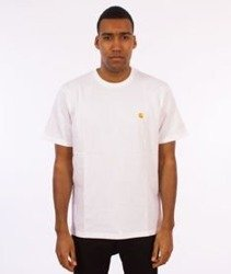 Carhartt-Chase T-Shirt White/Gold