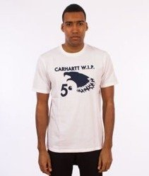 Carhartt WIP-5 Cent Eagle T-Shirt White/Navy