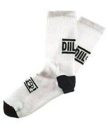 DIIL-Knuckle Skarpetki Długie Białe