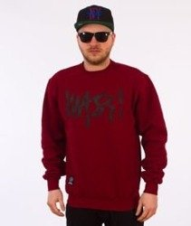 Mass-Signature Handmade Crewneck Bluza Bordowa