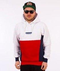 Mass-Sprint Bluza Z Kapturem Biała/Navy/Czerwona