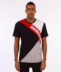 Patriotic-Cut T-shirt Czarny/Czerwony/Biały/Szary