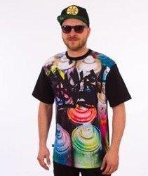 SmokeStory-Smoke Cans T-Shirt Czarny/Multikolor