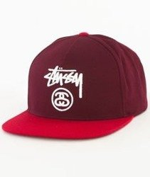 Stussy-Stock Lock Sp17 Snapback Czapka Red