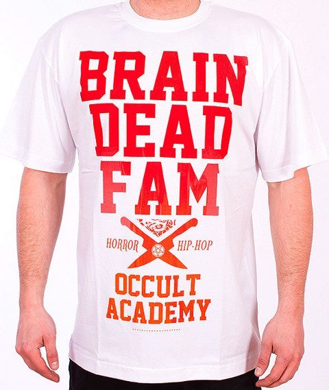 Brain Dead Familia-Occult Academy T-shirt Biały/Fire