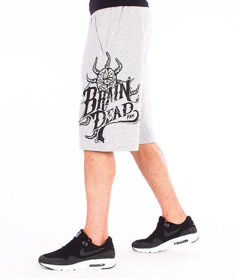Brain Dead Familia-Occult Baseball Spodnie Krótkie Dresowe Szare