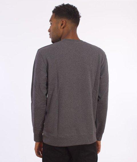 Carhartt-College Script Sweatshirt Dark Grey Heather/White