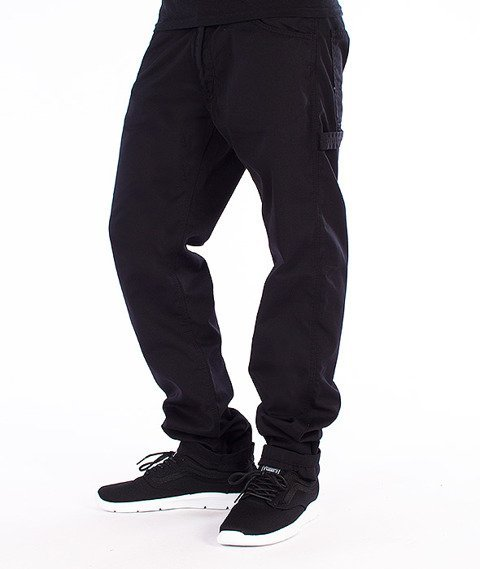 Carhartt-Fort Pants Spodnie Black Rinsed Straight Leg L32