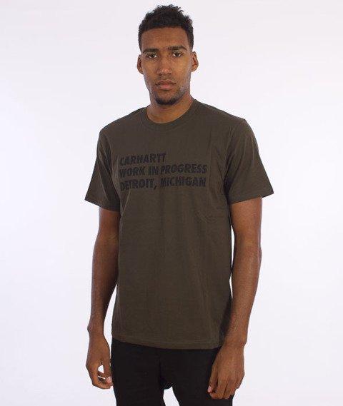 Carhartt WIP-Bold Type T-Shirt Cypress/Black
