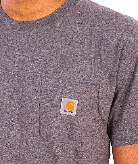 Carhartt WIP-Pocket T-Shirt Dark Grey Heather