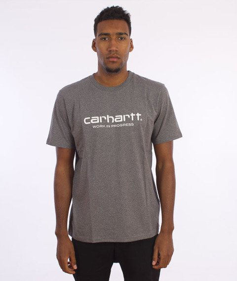 Carhartt WIP-WIP Script T-Shirt  Dark Grey Heather