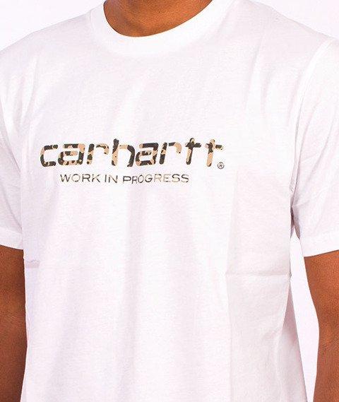 Carhartt WIP-WIP Script T-Shirt  White/Camo Stain