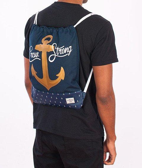 Cayler & Sons-Crew Gym Bag Navy/Gold/White
