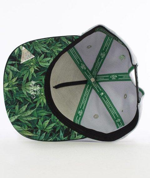 Cayler & Sons-Defend Your Crops Cap Snapback Grey/Black/Green Leaves