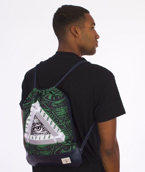 Cayler & Sons-Triangle Of Trust Gym Bag Navy/Green/White