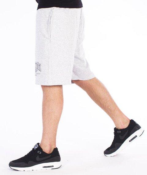 Chada-Proceder 14 Spodnie Krótkie Dresowe Szare