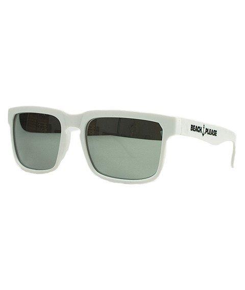 Diamante-Beach Please Okulary Białe