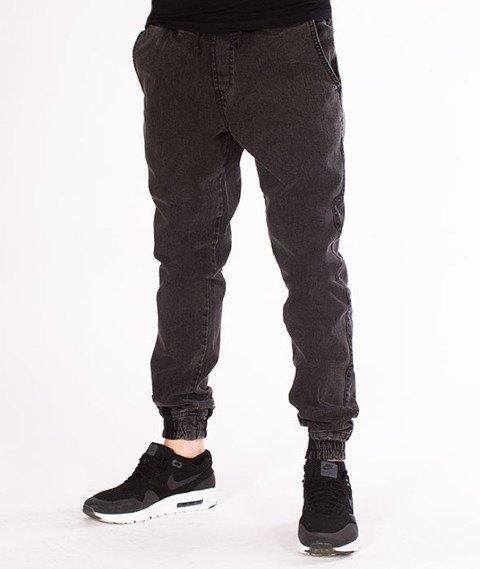 Diamante-Classic Jogger Jeans RM Spodnie Marmurkowe Czarne