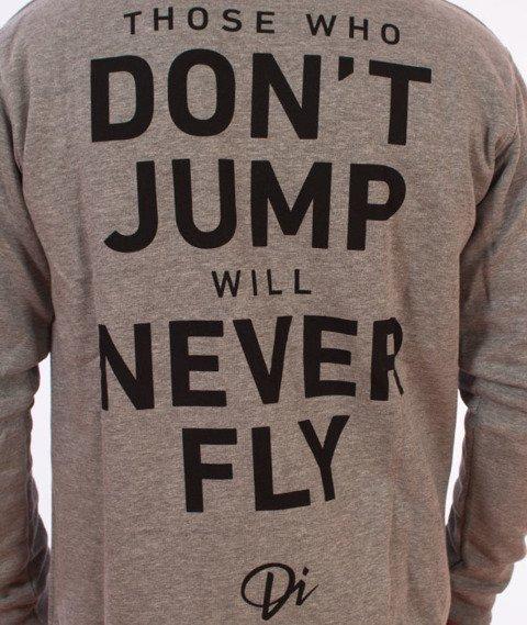 Diamante-Never Fly Bluza Zip Kaptur Szary