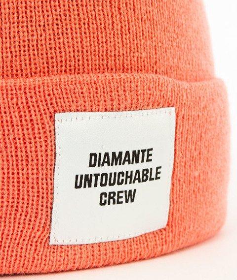 Diamante-Untouchable Crew Czapka Zimowa Zawijana Łososiowa