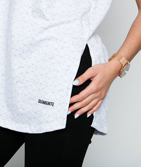 Diamante-Włajaż T-shirt Damski Biały