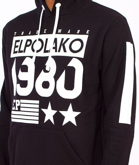 El Polako-1980 Kaptur Czarny/Multikolor