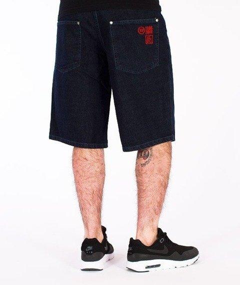 El Polako-El Polako Spodnie Krótkie Jeans Ciemne Spranie