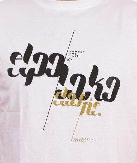 El Polako-Font T-Shirt Biały