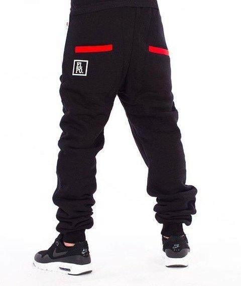 El Polako-Half Colour Fit Spodnie Dresowe Czarne/Białe