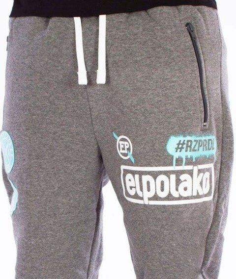El Polako-RZPRDL Regular Spodnie Dresowe Grafitowe
