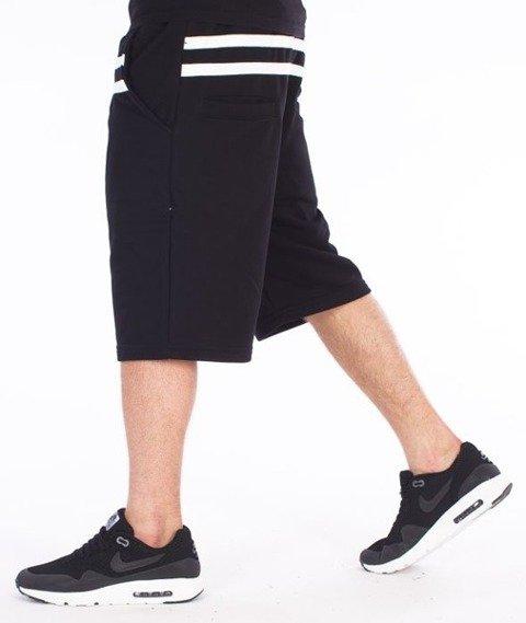 El Polako-Stripes Spodnie Krótkie Dresowe Czarne