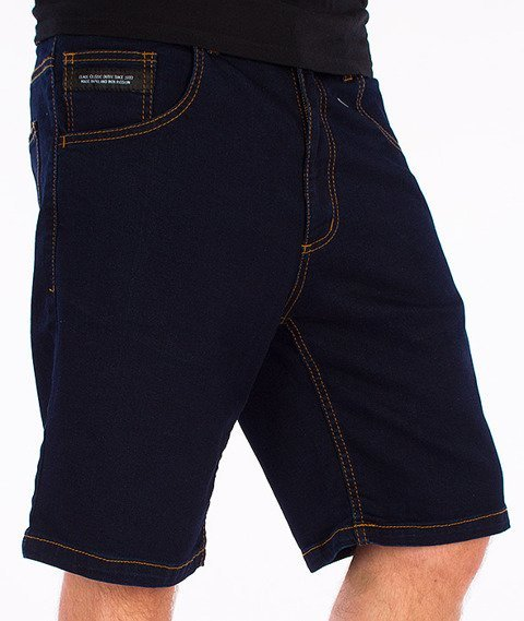 Elade-Icon Spodnie Krótkie Jeans Dark Blue