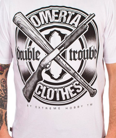 Extreme Hobby-Double Trouble T-shirt Biały