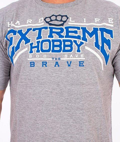 Extreme Hobby-Hard Life T-shirt Szary