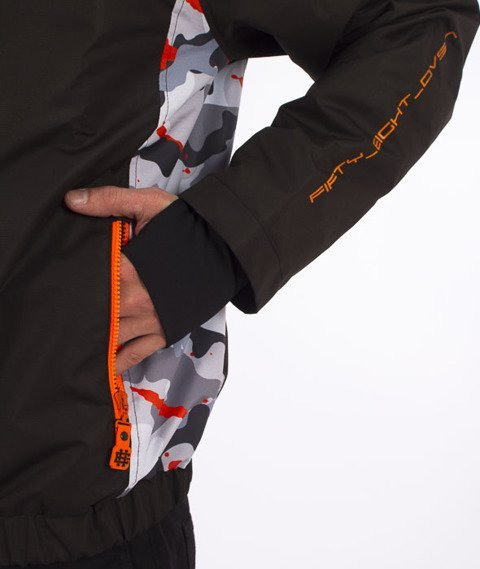 Extreme Hobby-Urban Stealth Jacket Kurtka Czarna/Camo/Pomarańczowa