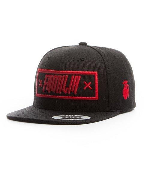 Familia Wear-Logo Snapback Czarny/Czerwony
