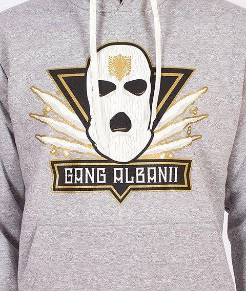 Gang Albanii-Big Kogz Bluza Kaptur Szara