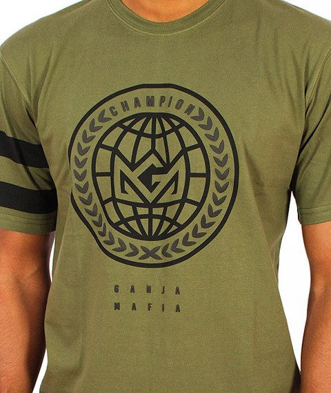 Ganja Mafia-Global Champion T-Shirt Zielony