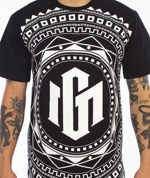 Ganja Mafia-Mandala T-Shirt Czarny