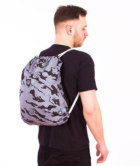 Koka- Naked Camo Back Bag Grey/Black