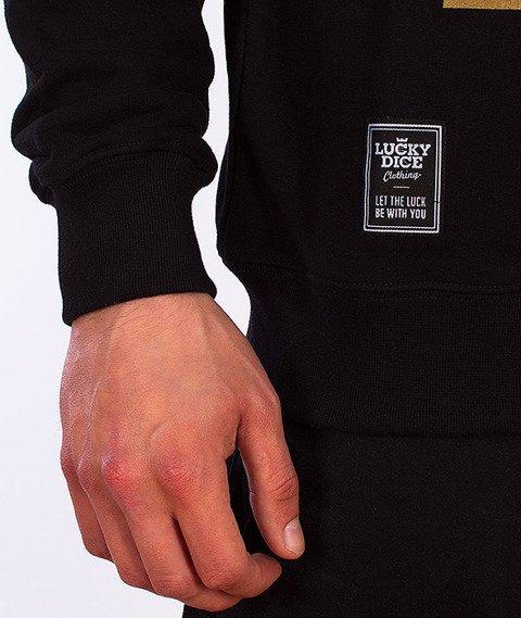 Lucky Dice-Label Bluza Czarna/Złota