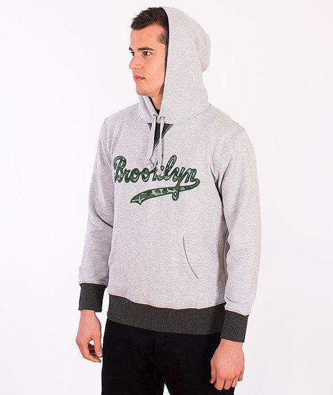 Majestic-Brooklyn Dodgers Hoodie Grey