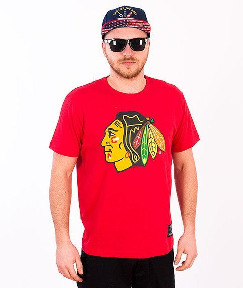 Majestic-Chicago Black Hawks T-shirt Red