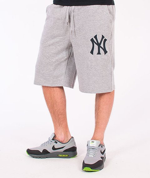 Majestic-New York Yankees Short Desta Fleece Grey
