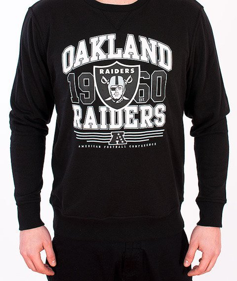 Majestic-Oakland Raiders Crewneck Back