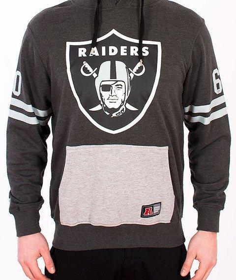 Majestic-Oakland Raiders Hoodie Grey