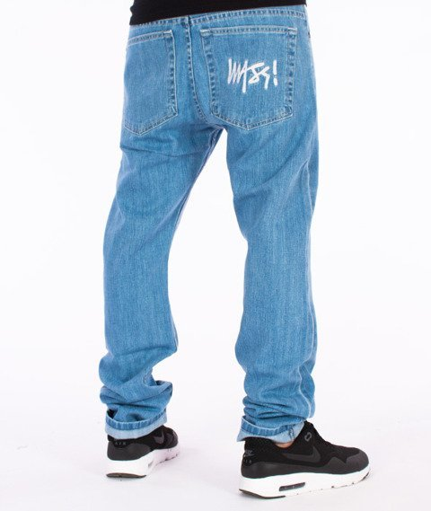 Mass-Signature Tapered Fit Jeans Spodnie Light Blue
